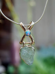 Aquamarine Rough Pendant 2