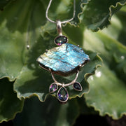 Free-form Rough Labradorite Pendant 1