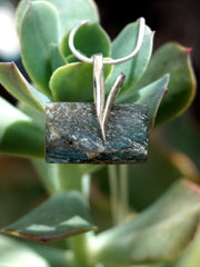 Free-form Rough Labradorite Pendant 4