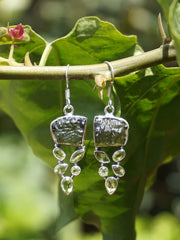 Moldavite Earring Set 1 with Peridot