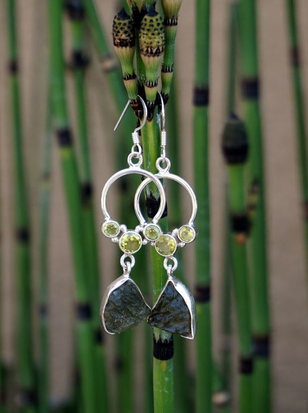 Moldavite Earring Set 3
