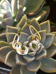 Rough Peridot Earring Set 1