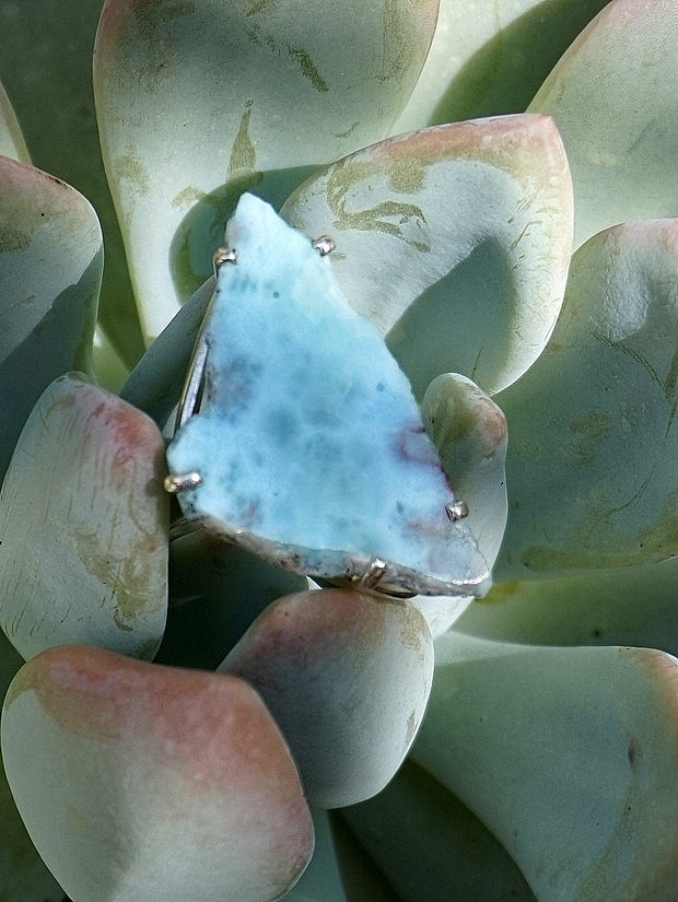 Free-form Larimar Ring 1