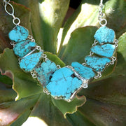 Free-form Artisan Turquoise Necklace 1