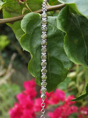 Rough Peridot Tennis Bracelet 1