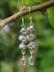 Herkimer Diamond Quartz Crystal Earring Set 3