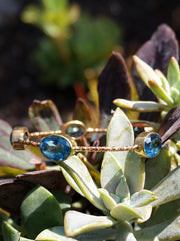 London Blue Topaz Bangle Bracelet 1 in Rose Bronze