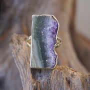 Amethyst Rough Quartz Crystal Ring 3