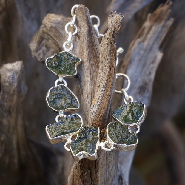 Moldavite Rough Bracelet 1