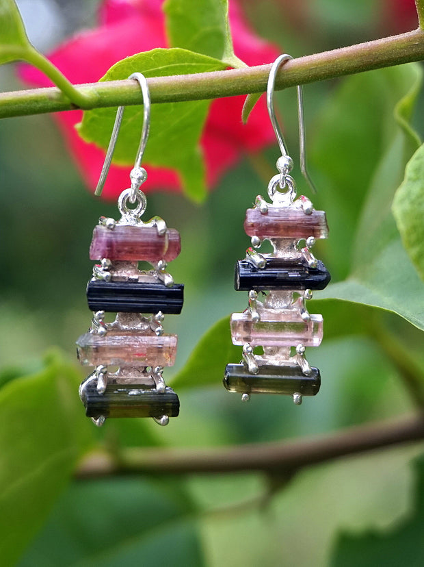 Tourmaline Crystal Earring Set 3