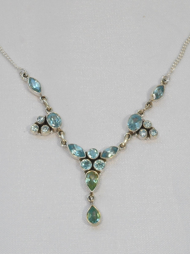 Delicate Blue Topaz Necklace 5