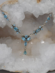 Delicate Blue Topaz Necklace 3