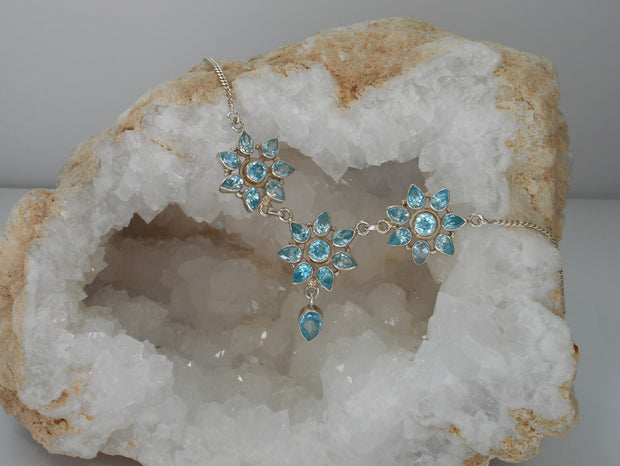 Delicate Blue Topaz Necklace 4
