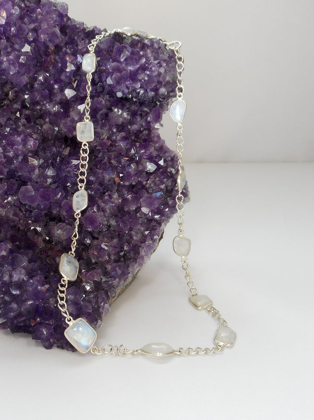 Delicate Moonstone Necklace 1