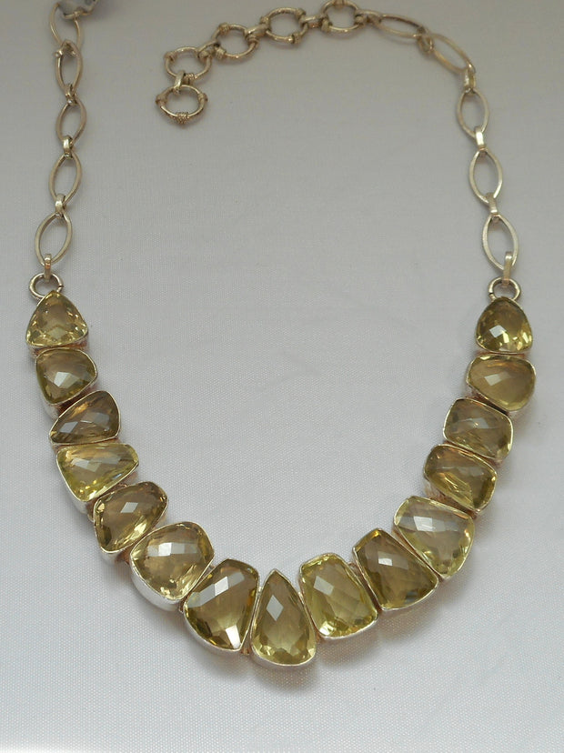 *Honey Citrine Quartz Crystal Gemstones Necklace 2