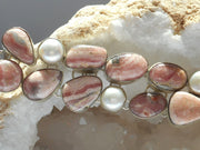 Rhodachrosite Bracelet 2 with Pearls