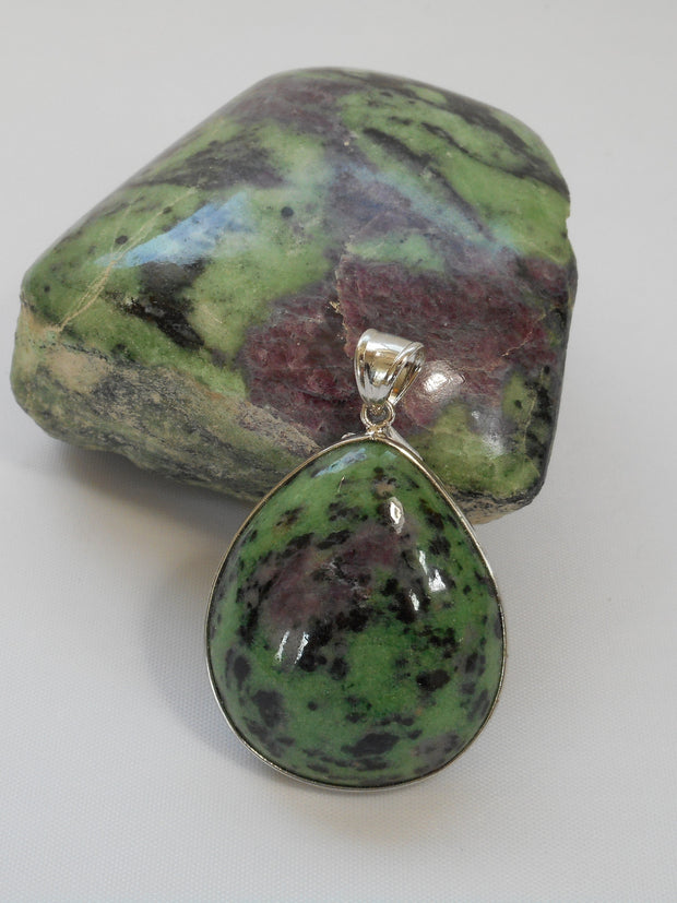 Ruby in Zoisite Pendant 7