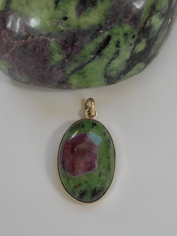 Ruby in Zoisite Pendant 8