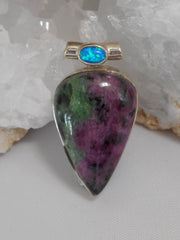 Ruby in Zoisite Pendant 5