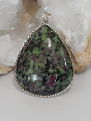 Ruby in Zoisite Pendant 1
