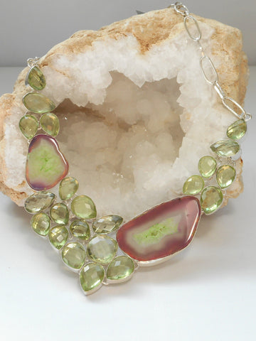 Green Amethyst Quartz Necklace 2