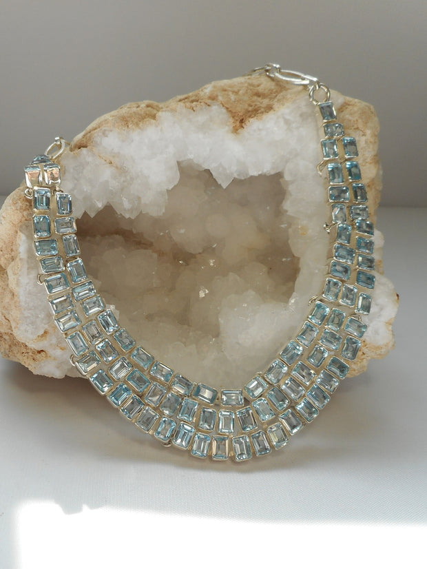 *Blue Topaz Necklace