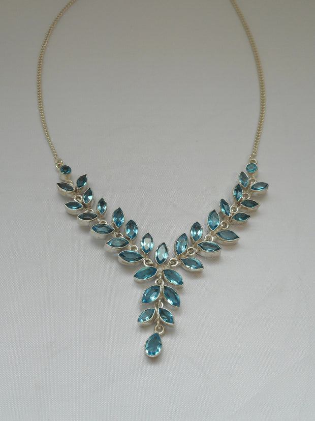 Delicate Blue Topaz Necklace 1