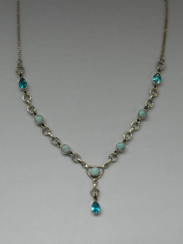 Delicate Blue Topaz and Larimar Necklace