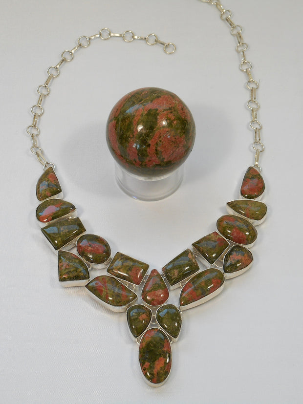 Unakite Necklace 3