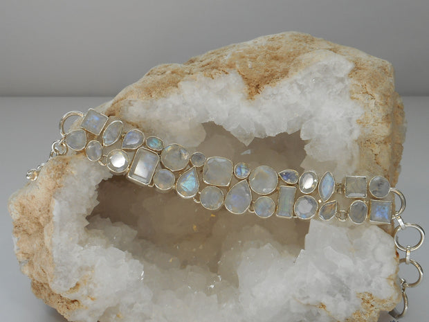 Moonstone Faceted Bracelet 2