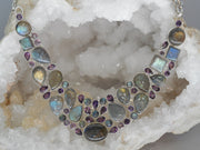 Amethyst Quartz and Labradorite Necklace