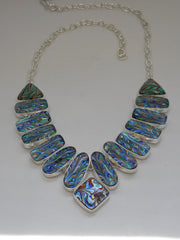 *Venetian Glass Collar Necklace (Dichroic Glass Collection)