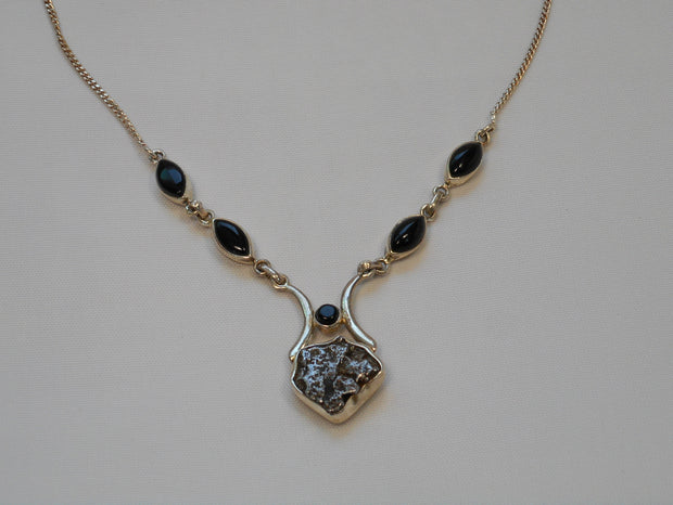 Sterling and Meteorite Necklace 5