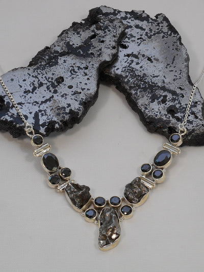 Sterling and Meteorite Necklace 1