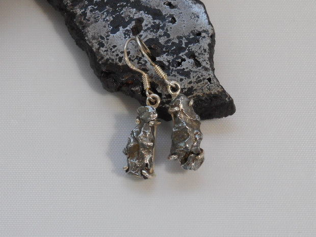 Sterling and Meteorite Earring Set 3