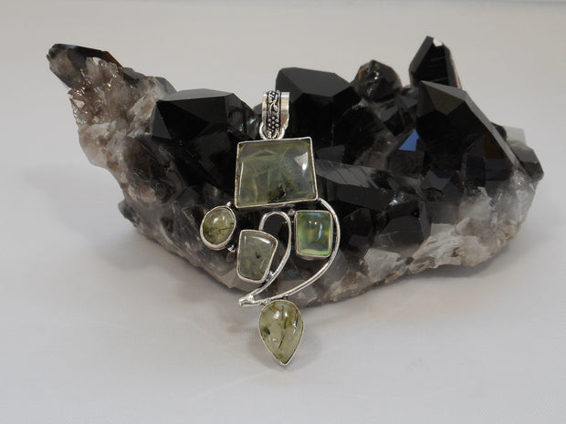 Prehnite and Sterling Pendant 3