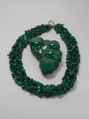 Malachite Beaded Necklace 2