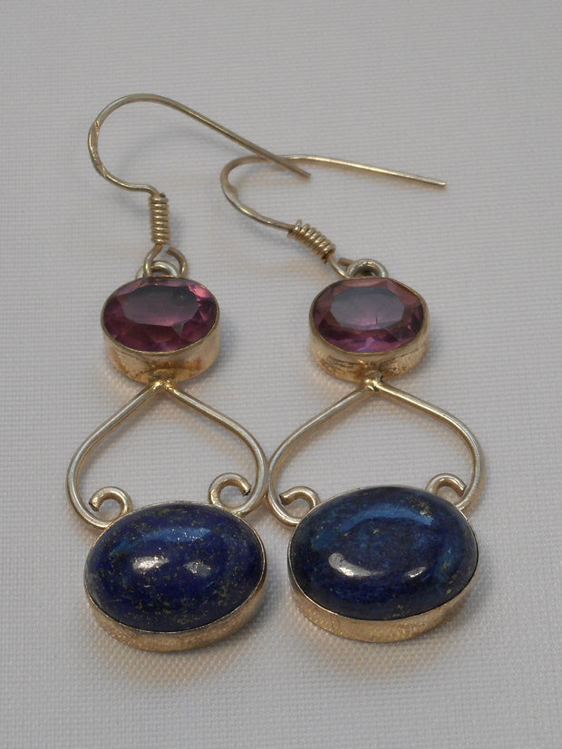 Amethyst Earring Set 3 with Lapis