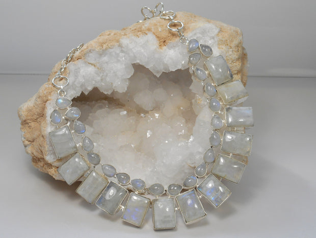 Moonstone Teardrop Collar 2