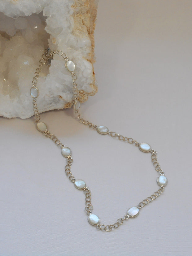 Mother of Pearl & Sterling Necklace