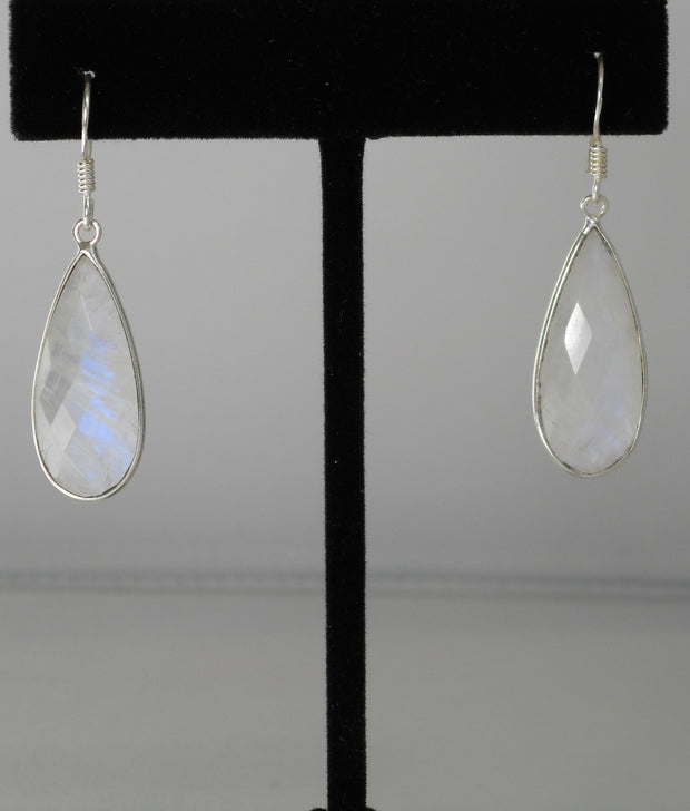 Moonstone Faceted Earring Set 1