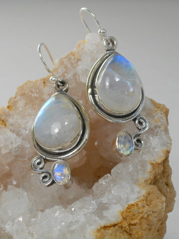 Moonstone Faceted Earring Set 2