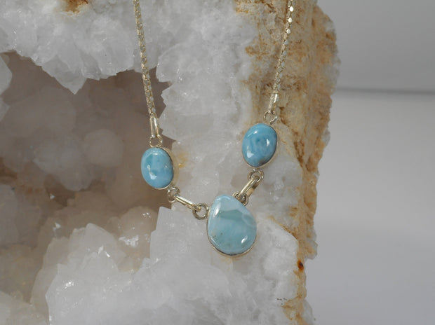 Delicate Larimar Necklace 3
