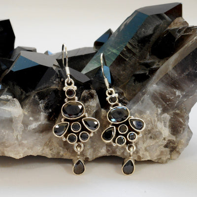 Black Onyx and Sterling Earring Set 3