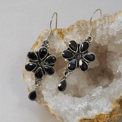 Black Onyx and Sterling Earring Set 2