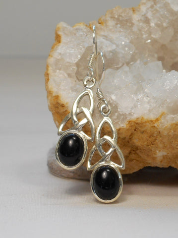 Black Onyx and Sterling Earring Set 1