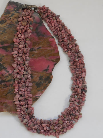 Rhodonite Beaded Necklace