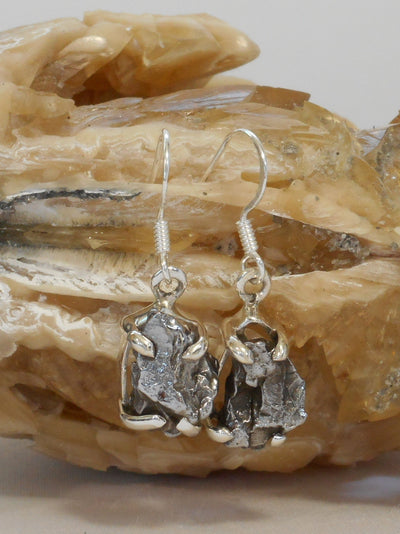 Sterling and Meteorite Earring Set 4