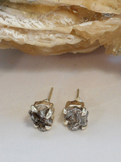 Sterling and Meteorite Earring Post Set 1 (Petite)