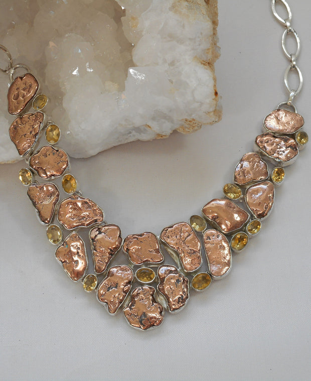 *Native Copper and Citrine Quartz Necklace 2